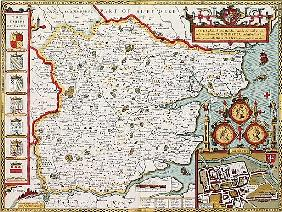 Essex; engraved by Jodocus Hondius (1563-1612) from John Speed''s Theatre of the Empire of Great Bri