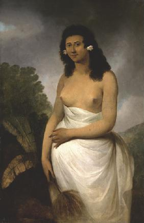 Portrait of Poedooa, daughter of Orea, King of Ulaitea, Society Islands