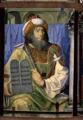 Moses With the Ten Commandments, from a series of portraits of illustrious men