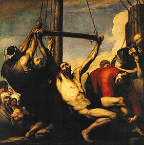 The martyrdom of St. Bartholomäus.