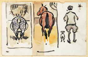 A page from a scrapbook containing 43 sketches