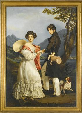 Duke Maximilian Joseph in Bavaria and Ludovika of Bavaria at Schloss Tegernsee