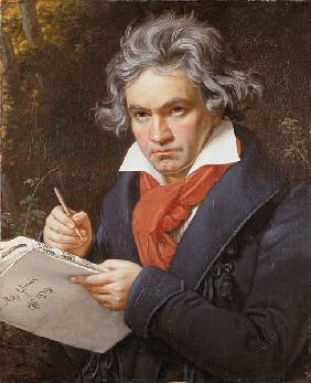 Portrait Ludwig van Beethoven when composing the M