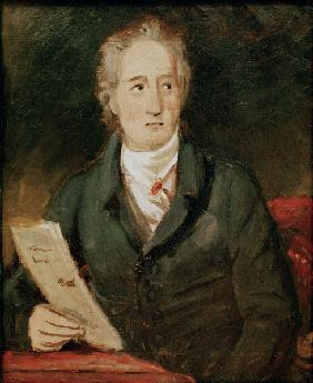Goethe , Sketch by J.Stieler