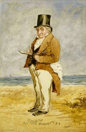 Retrato de William Turner: reproducción impresa o pintada al óleo