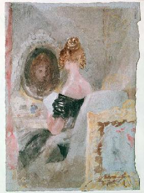 Turner / Women at Mirror / Gouache 1830