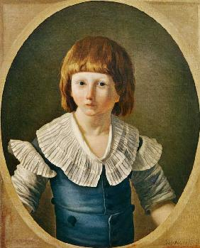 Louis XVII (1785-95) aged 8, at the Temple