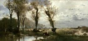 Landscape with cattle herd