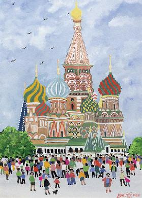 St. Basil''s Cathedral, Red Square, 1995 (w/c)