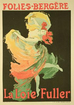 Reproduction of a Poster Advertising 'Loie Fuller' at the Folies-Bergere
