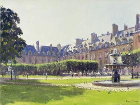Place des Vosges, Paris (oil on canvas)