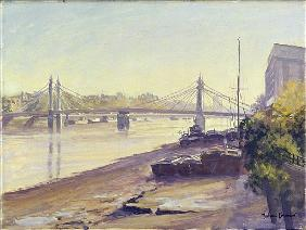 Albert Bridge (oil on canvas)
