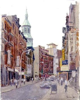 Mott Street, New York, 1997 (oil on canvas)