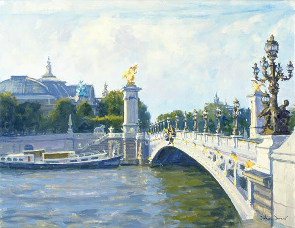 Pont Alexandre III, Paris (oil on canvas)