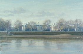 Royal Hospital from Battersea Park (oil on canvas)