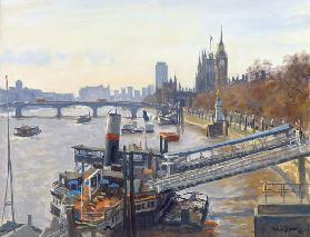 Westminster from Hungerford Bridge