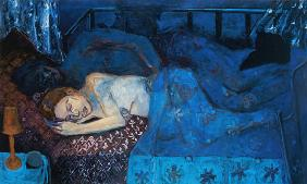 Sleeping Couple, 1997 (oil on canvas)