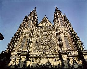 Facade of the Cathedral of St. Vitus