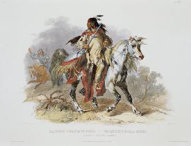 A Blackfoot Indian on Horseback, plate 19 from Volume 1 of 'Travels in the Interior of North America