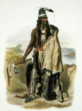 Abdih Hiddisch, a Minitarre Chief, plate 24 from Volume 2 of 'Travels in the Interior of North Ameri