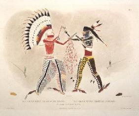Facsimile of an Indian Painting, plate 22 from volume 2 of `Travels in the Interior of North America