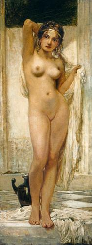 K�roly Lotz - Girl after the bath.