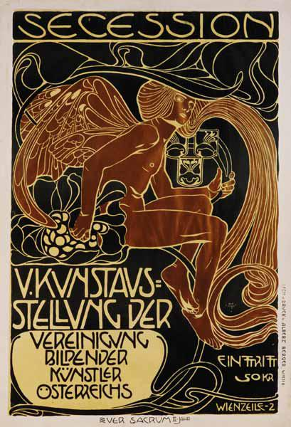 Poster for the 5th exhibition of the Viennese sece