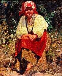 Young girl from Weissrussland (study to the painti