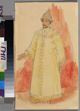 Costume design for the opera Boris Godunov by M. Musorgsky