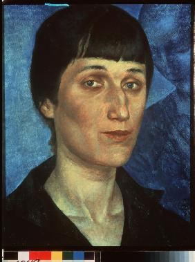 Portrait of the Poetess Anna Akhmatova (1889-1966)