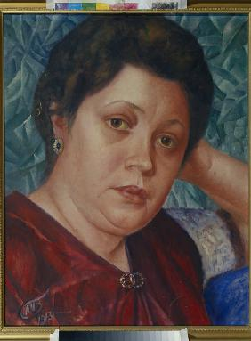 Portrait of the Opera singer Vera Petrova-Zvantseva