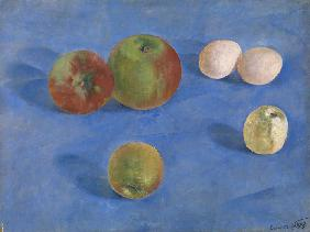 Still Life. Apples and Eggs
