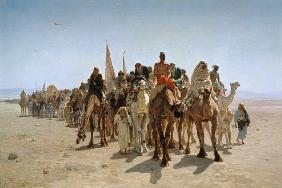 Belly, Leon-Auguste-Adolphe : Pilgrims Going to Mecca