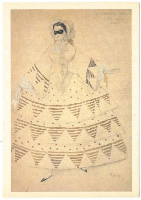 Costume design for the ballet Carnaval by R. Schumann