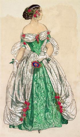 Costume design for the ballet Les Papillons by Robert Schumann