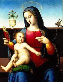 Madonna with child and goldfinch