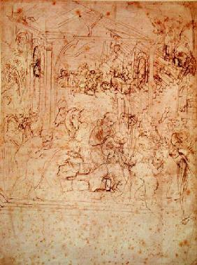 Compositional sketch for The Adoration of the Magi