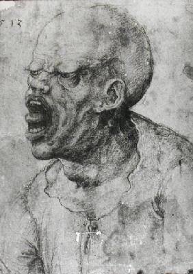 Portrait of a Man Shouting