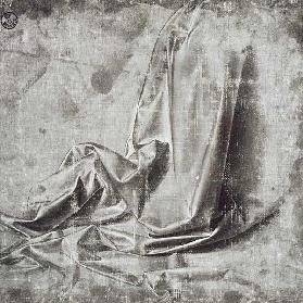 Drapery study for a kneeling figure in Profil Perdu to the right