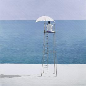 Beach guard, 2004 (acrylic on canvas)