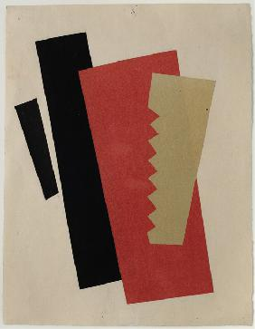 Composition (Red-Black-Gold)
