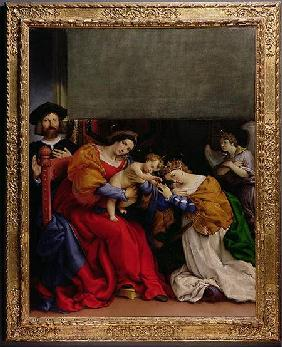 The Mystic Marriage of St. Catherine with the patron Niccolo Bonghi