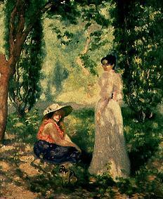 Two women in a landscape.