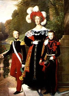 Marie Amelie of Bourbon-Sicile (1782-1866) and her sons, Henri of Orleans (1822-97) Duke of Aumale a