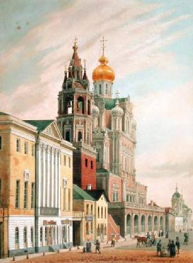 The Assumption Church at Pokrovskaya street in Moscow, printed by Lemercier, Paris