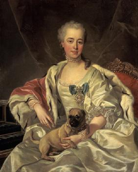 Portrait of the princess Golytschina with her litt