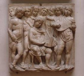 Musical angels, relief from the Cantoria
