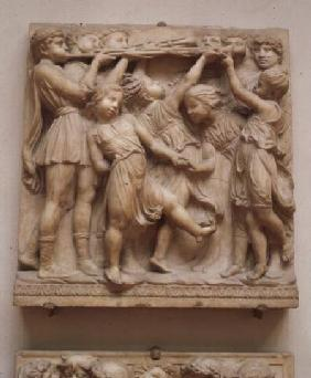 Trumpeting angels, relief from the Cantoria