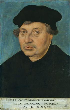 Portrait of the reformer Johann Bugenhagen (1485-1