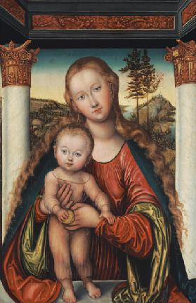 The virgin with the child (Madonna Polenska)